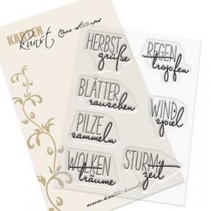 "Karten-Kunst Clear Stamp Set - Capri ""Herbstgrüße"""