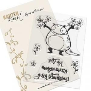Karten-Kunst Clear Stamp Set - Archie der Blumenbote
