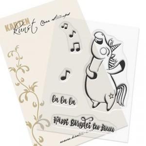 Karten-Kunst Clear Stamp Set - Barney der Barde