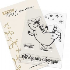 Karten-Kunst Clear Stamp Set - Barney der Eisläufer