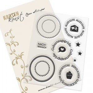 Karten-Kunst Clear Stamp Set - Große Siegel Geburtstag