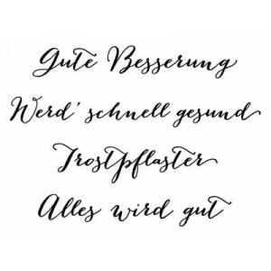 """Karten-Kunst Clear Stamp Set - Große Worte """"Gute Besserung"""""""