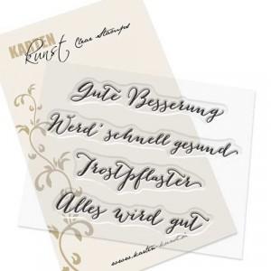 Karten-Kunst Clear Stamps KK-0054 - Große Worte Gute Besserung
