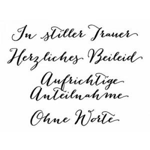 """Karten-Kunst Clear Stamp Set - Große Worte """"In stiller Trauer"""""""