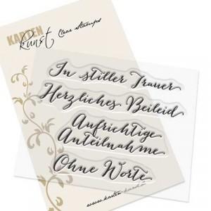 Karten-Kunst Clear Stamps KK-0055 - Große Worte In stiller Trauer
