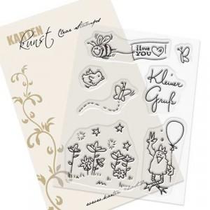 Karten-Kunst Clear Stamp Set - Kleine Viecher