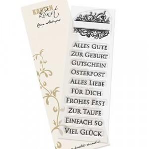 Karten-Kunst Clear Stamp Set - Eingerahmte Worte