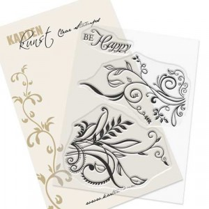 Karten-Kunst Clear Stamp Set - Alte Schnörkel