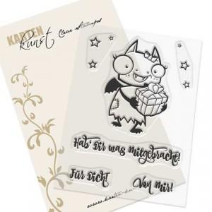 Karten-Kunst Clear Stamps KK-0069 - Daisy mit Geschenk