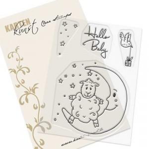 Karten-Kunst Clear Stamp Set - Viecher im Mond