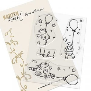 Karten-Kunst Clear Stamps KK-0077 - Viecher auf Ballonfahrt