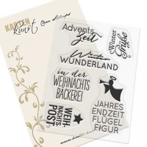 Karten-Kunst Clear Stamp Set - Typomix Advent