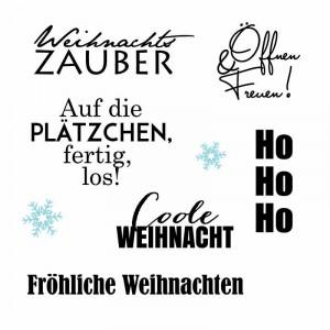 Karten-Kunst Clear Stamp Set - Typomix Weihnachten