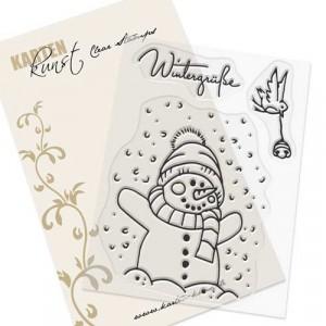 Karten-Kunst Clear Stamp Set - Viecher im Schnee