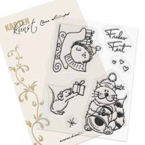 Karten-Kunst Clear Stamp Set - Viecher zum Fest