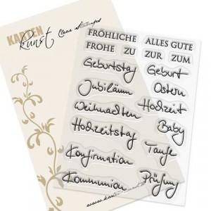 Karten-Kunst Clear Stamp Set - Kombi-Set Quer durchs Jahr 2