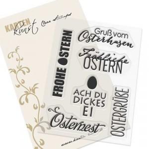 Karten-Kunst Clear Stamps KK-0098 - Typomix Ostern