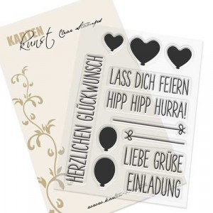 Karten-Kunst Clear Stamp Set - Luftballon-Grüße