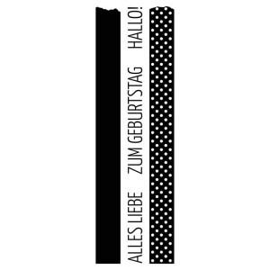 Karten-Kunst Clear Stamp Set - Washi-Tape Alles Liebe
