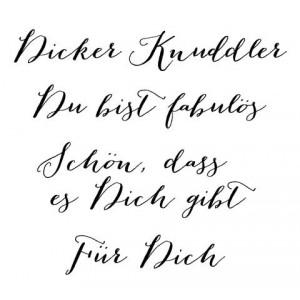 Karten-Kunst Clear Stamp Set - Große Worte Dicker Knuddler