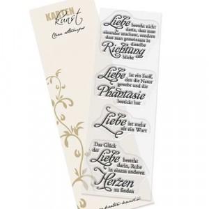 """Karten-Kunst Clear Stamp Set - Weise Worte """"Liebe"""""""