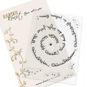 Karten-Kunst Clear Stamp Set - Spiral-Text Weihnachten