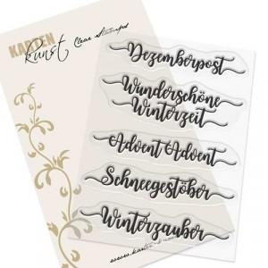 Karten-Kunst Clear Stamp Set - Kalligraphie im Dezember