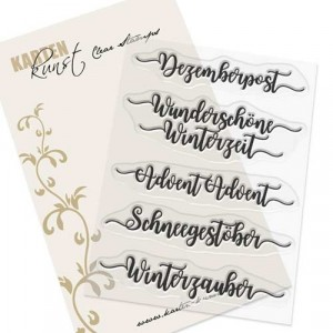 Karten-Kunst Clear Stamps KK-0115 - Kalligraphie im Dezember