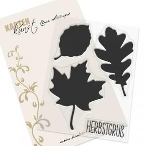 Karten-Kunst Clear Stamp Set - Herbst-Blätter
