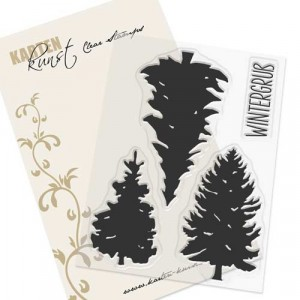 Karten-Kunst Clear Stamp Set - Winter-Tannen