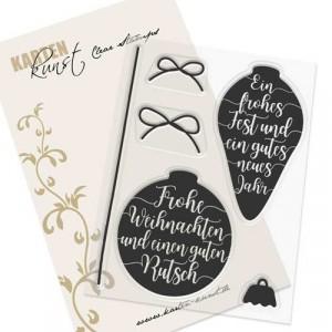 Karten-Kunst Clear Stamps KK-0120 - Christbaum-Ornamente
