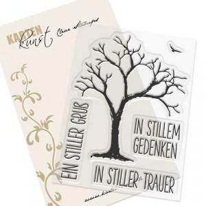 Karten-Kunst Clear Stamp Set - Trauerbaum