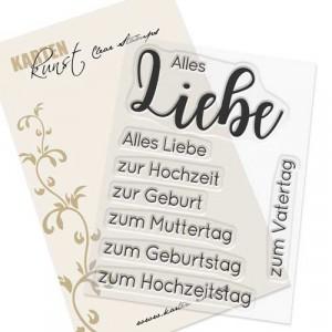 Karten-Kunst Clear Stamp Set - Riesige Wünsche Alles Liebe