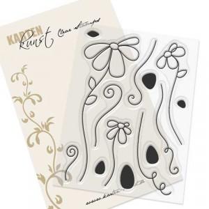 Karten-Kunst Clear Stamps KK-0128 - Scribble Daisies