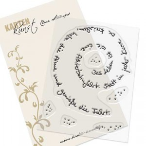 Karten-Kunst Clear Stamp Set - Spiral-Text Achterbahn