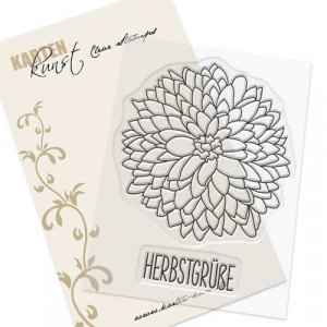 Karten-Kunst Clear Stamp Set - Chrysanthemum
