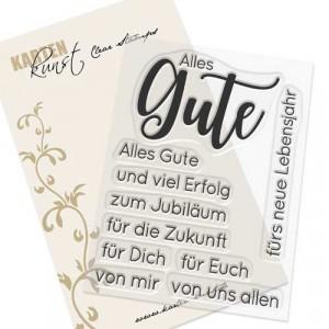 Karten-Kunst Clear Stamps KK-0137 - Riesige Wünsche Alles Gute