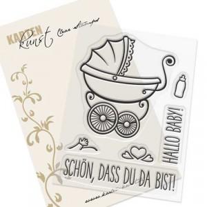 Karten-Kunst Clear Stamps KK-0138 - Schön, dass Du da bist