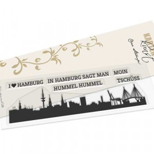 Karten-Kunst Clear Stamp Set - Skyline Hamburg