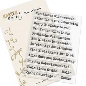 Karten-Kunst Clear Stamp Set - Aus der Schreibmaschine