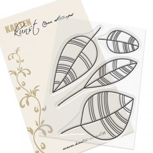 Karten-Kunst Clear Stamp Set - Scribble Leaves