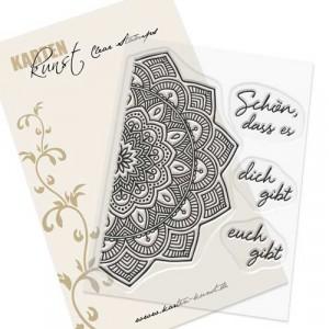 Karten-Kunst Clear Stamps KK-0158 - Mandala Schön dass es dich gibt