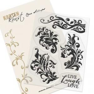 Karten-Kunst Clear Stamps KK-0159 - Alte Randschnörkel