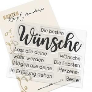 Karten-Kunst Clear Stamps KK-0160 - Riesige Beste Wünsche