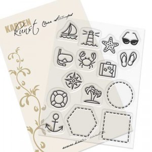 Karten-Kunst Clear Stamps KK-0166 - Mini Frames At the Sea