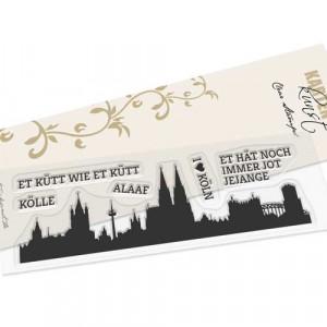 Karten-Kunst Clear Stamp Set - Skyline Köln