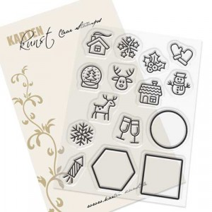 Karten-Kunst Clear Stamp Set - Mini Frames Winter