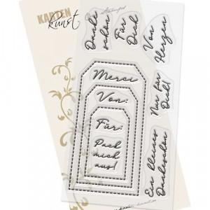 Karten-Kunst Großes Clear Stamp Set - Tag-Sprüche