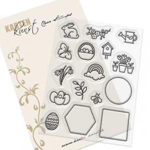 Karten-Kunst Clear Stamps KK-0187 - Mini Frames Spring