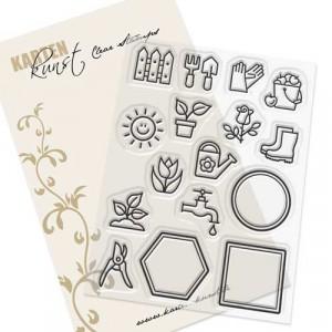 Karten-Kunst Clear Stamps KK-0194 - Mini Frames Garden